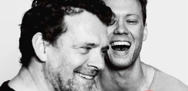 Mark Rietman en Sander Plukaard sieren het omslag van de nieuwste  Scènes, foto: Janita Sassen