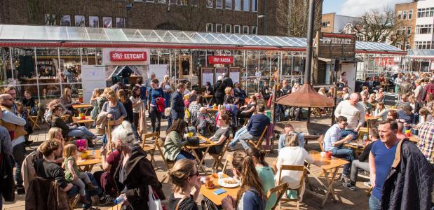 Festivalhart van Tweetakt op het Neude in Utrecht