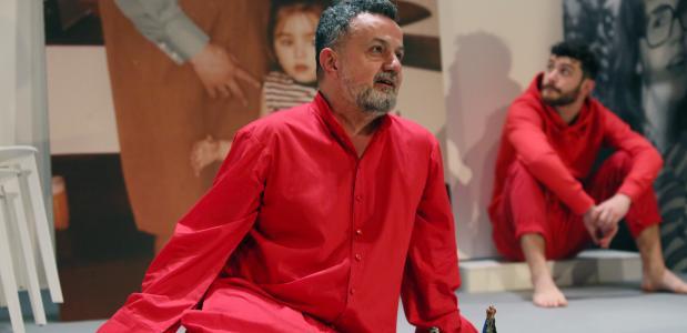 Marcus Azzini is regisseur maar hier als speler te zien. Foto: Sanne Peper