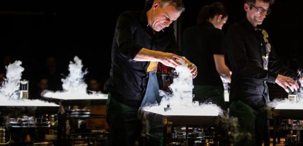 Muziek en eten als theater bij Laika, foto: Kathleen Michiels