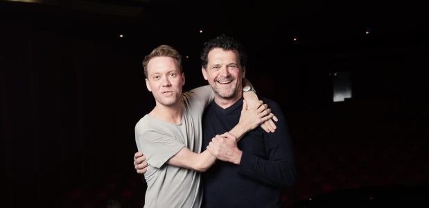 Sander Plukaard (links) vertolkt Mozart en Mark Rietman speelt Salieri, foto: Janita Sassen