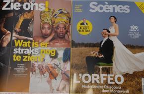 Scènes december is een omdraaimagazine met twee covers: het 'gewone' nummer en aan de andere kant de speciale bijlage