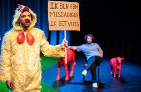 Deze voorstelling is serieuzer van toon dan hun eerdere werk, foto: Bart Grietens