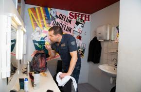 René van Kooten heeft altijd een groene appel in de kleedkamer vertelt hij in Scènes, foto: Janita Sassen