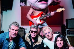 Vlnr: Kees van der Vooren, Vincent van Warmerdam, Servaes Nelissen en René van 't Hof; foto: Bowie Verschuuren.