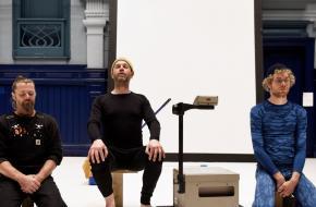 Contemplatie in Afscheidstournee. Vlnr: Manuel Boutreur, Vincent Rietveld en Rob Smorenberg,oto: Sofie Knijff