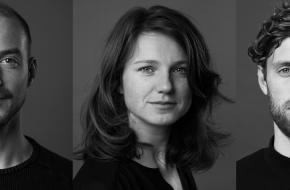 Cast van Bedrog vlnr: Justus van Dillen, Jessie Wilms en Matthijs IJgosse